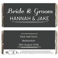 Personalised Classic Wedding Chocolate Bar