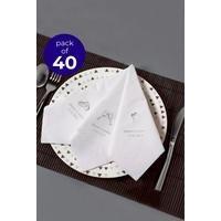 40 Personalised Rings Serviettes