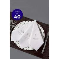 40 Personalised Champagne Glass Serviettes