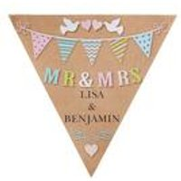 Personalised Mr and Mrs Doves Bunting