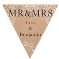 Personalised Mr and Mrs Damask Bunting
