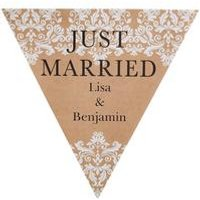 Personalised Just Married Bunting