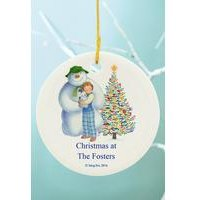 Snowman And The Snowdog Friends Decoration