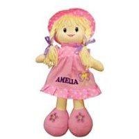 Personalised Pink Rag Doll