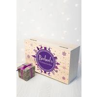 Personalised Christmas Eve Box With Snowflake Wreath - Large