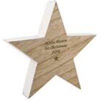 Personalised Wooden Star Decoration at Ace Catalogue