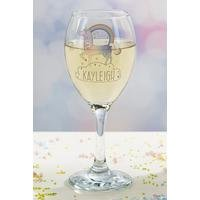 Personalised Unicorn Wine Glass at Ace Catalogue