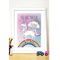 Personalised Unicorn Poster Frame at Ace Catalogue