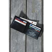 leather personalised gents wallet