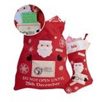 Letter to Santa Sack and Personalised Christmas Stocking