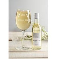 Personalised White Wine Set