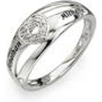 Personalised Silver Heart Ring