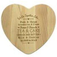 We Go Together Like Heart Chopping Board