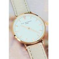 Elie Beaumont Modern-Vintage Personalised Leather Watch