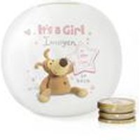 Personalised Boofle Its a Girl Money Box