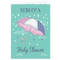 Personalised Baby Shower Umbrella Card