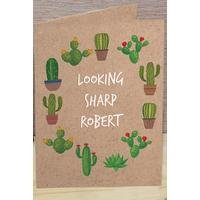 Personalised Cactus Card