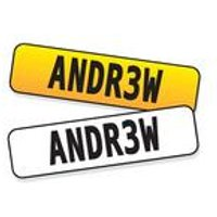Personalised Kids Number Plate
