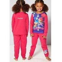 Girls Personalised Shimmer and Shine Pyjamas