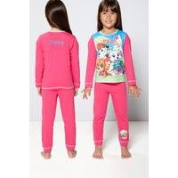 Girls Personalised Paw Patrol Pyjamas