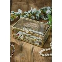 Personalised Vintage Glass Jewellery Box