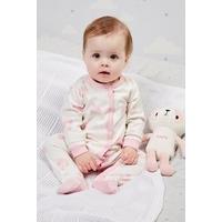 Babys Sleepsuit With Personalised Panda - Pink