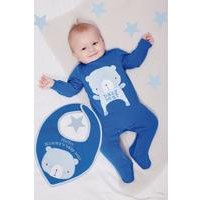 Baby Bear Sleepsuit With Personalised Bib
