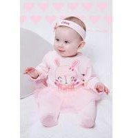 Baby Rabbit Tutu Sleepsuit With Personalised Headband