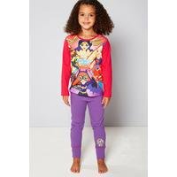 Girls Personalised DC Comics Superheros Pyjamas