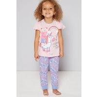 Girls Personalised Peppa Pig Unicorn Pyjamas