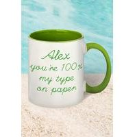 100% My Type On Paper Personalised Mug