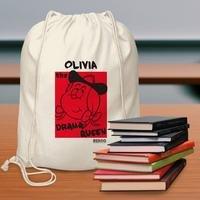 Personalised Beano Big Heads Minnie Drawstring Bag