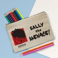 Personalised Beano Big Heads Dennis Canvas Pencil Case and Pencils