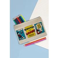 Personalised Beano Comic Strip Top Dog Pencil Case Set