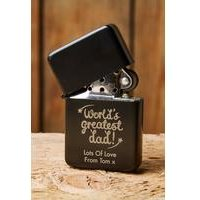 Personalised Worlds Greatest Dad Black Lighter