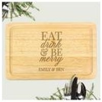 Personalised Eat Drink and Be Merry Chopping Board