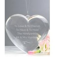 Personalised Engraved 3D Acrylic Heart