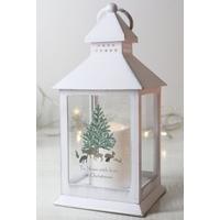 Personalised A Winters Night White Lantern