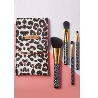 4-Piece Make Up Brush Set with Personalised Pouch
