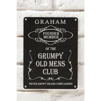 Personalised Grumpy Old Mens Club Sign