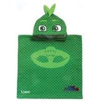 Personalised PJ Masks Gekko Poncho Towel