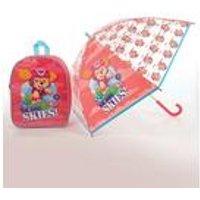Personalised Pink Paw Patrol Backpack and Umbrella Set