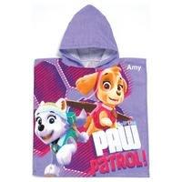 Personalised Paw Patrol Pink Poncho