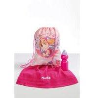 Personalised Pink Paw Patrol Pump Bag, Towel and Water Bottle Set