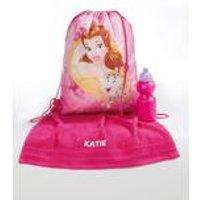 Personalised Disney Princess Pump Bag, Towel and Water Bottle Set
