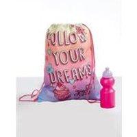 Personalised JoJo Siwa Pump Bag, Towel and Water Bottle Set
