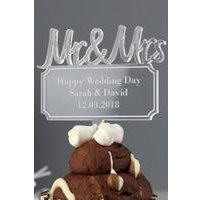Personalised Mr and Mrs Plaque Acrylic Cake Topper