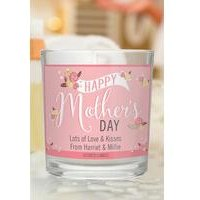 Personalised Floral Mothers Day Scented Jar Candle