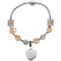 Personalised Rose Gold Charm Bracelet 21cm