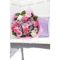 Personalised Mothers Day Bouquet and Lilac Vase